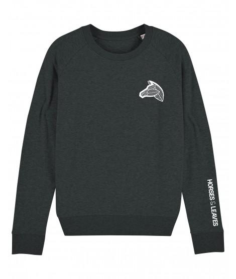 Sweatshirt gris foncé chiné