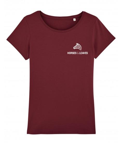 T-shirt « Iconique » bordeaux