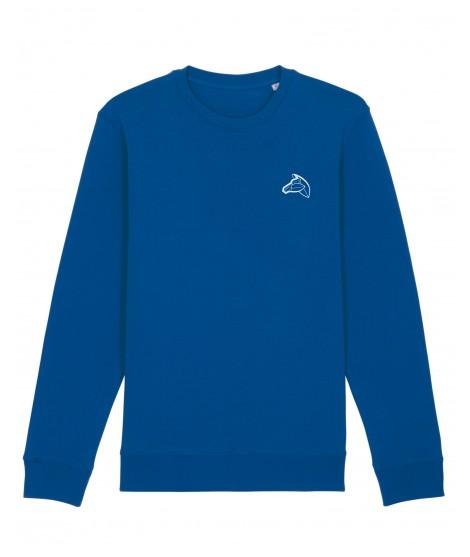 Sweatshirt brodé bleu...