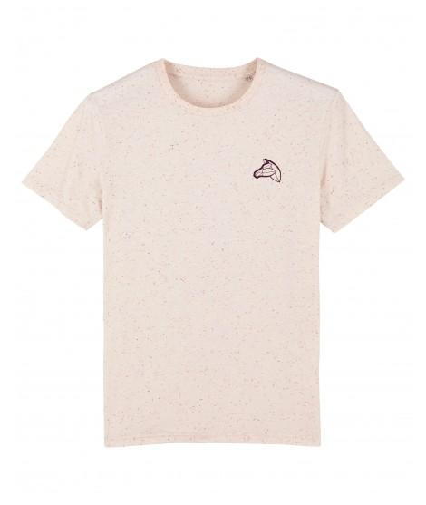 T-shirt brodé mandarine