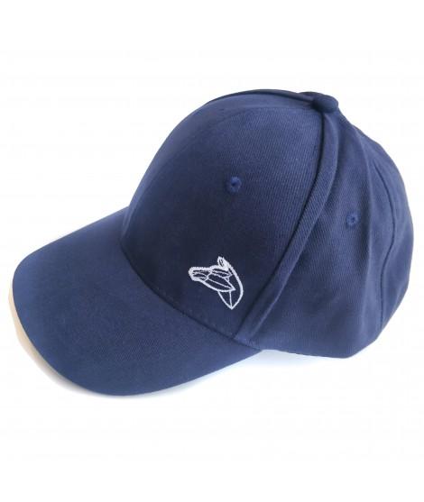 Casquette brodée bleu marine