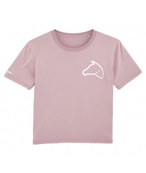 T-shirt brodé lila